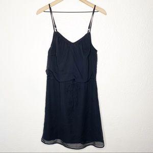 Old Navy Black Chiffon Blouson Sleeveless Dress